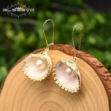 Серьги glseevo из натуральной ракушки жемчуг для женщин и девушек