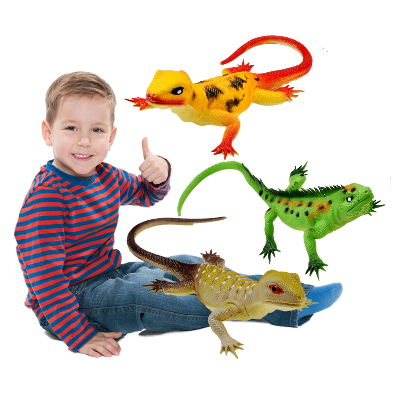 Lizard Toy Sound Squeeze Realistic Animal Cool Stuff Funny Things Novelty Toys For Kids Children Party Gift
