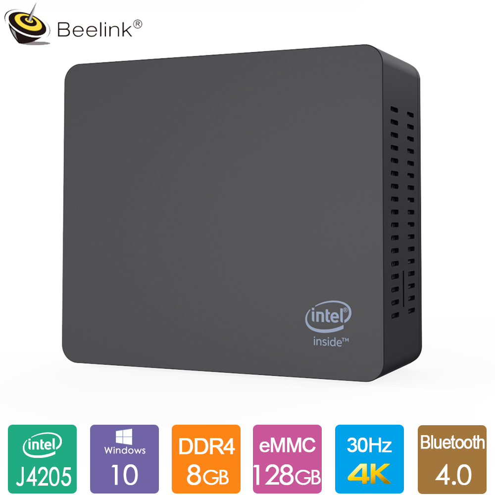 Beelink AP45 Office Mini PC Intel Pentium J4205 2.6GHz 8GB LPDDR4 128G EMMC Windows10 2.4G 5G Dual WiFi LAN 1000M 4K HTPC NUC