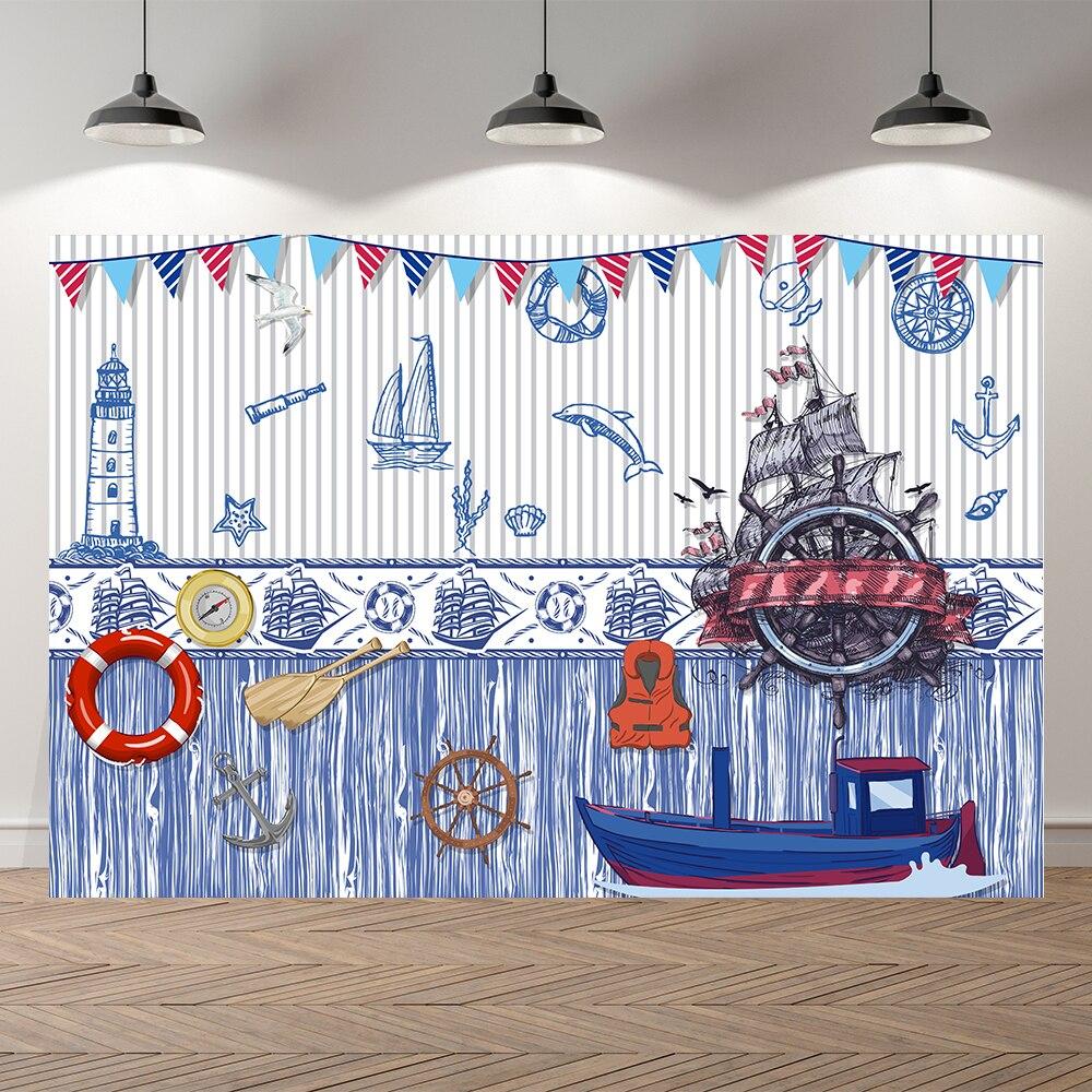 Seekpro парусный Морской капитан мальчиков фотосессия ребенок день рождения фотография Фон фотографический фон для студийной съемки