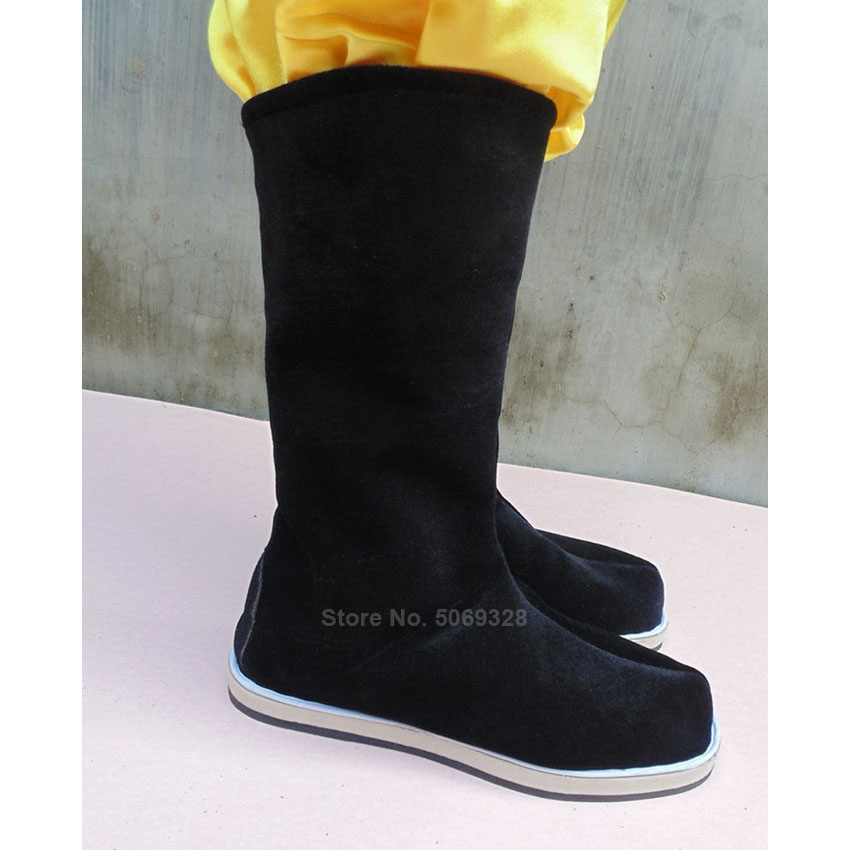 Ancient Chinese Traditional Shoes Cotton Men Women Hanfu Dance Boots Peking Opera Folk Dancing Qing Dynasty Accessories Shoes