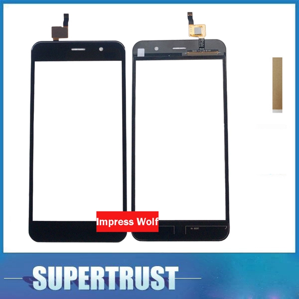 For Vertex Impress Wolf Touch Screen Digitizer Front Glass Lens Black Color With Adhesive Tape