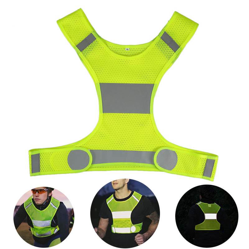 Safety Vest  Reflective Vest Outdoor Running Adjustable Safety Security High Visibility Reflective Working Clothes Night Cycling