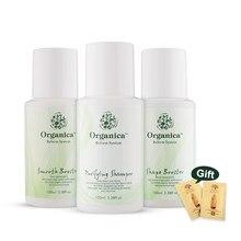 100% naturalna zieleń Botanicals 100ML kształt keratyny + szampon oczyszczający + gładki Booster z prostowanymi i gładkimi uszkodzonymi włosami