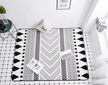 Felpudo de baño para sala de estar, antideslizante, rectangular, para habitación de...