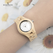 BOBO BIRD V-O10 Ladies Luxury Watches Bamboo Wooden Fashion Unique Women Quartz Watch relogio feminino with Diamond bobo bird luxury women bamboo watches timepieces for men and women quartz wooden watch relogio feminino c d21