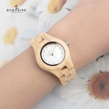 BOBO BIRD V-O10 Ladies Luxury Watches Bamboo Wooden Fashion Unique Women Quartz Watch relogio feminino with Diamond недорого