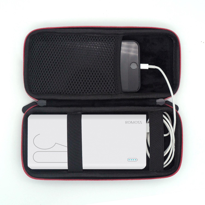2020 mais novo eva caso portátil duro para romoss sense 8 + 30000 mah capa de energia móvel portátil bateria powerbank saco do telefone
