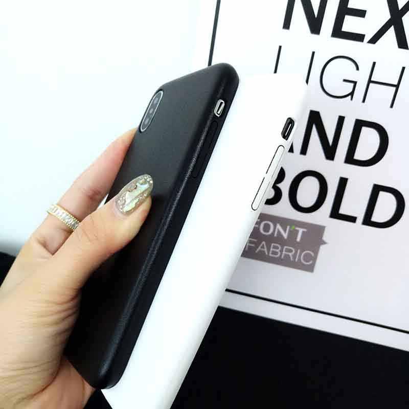 เคสโทรศัพท์หรูหราสำหรับ iphone xr x xsmax xs PU หนัง apple Capa สำหรับ iphone 7 8 6 6s plus ultra-บางธุรกิจฝาครอบแกะรูปแบบ