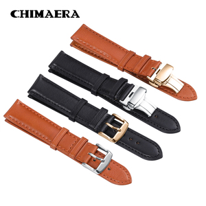 CHIMAERA Genuine Calf Watchband 18mm 19mm 20mm 21mm 22mm 24mm Watch Band Leather Strap for Omega Breitling Tissot Seiko Watch