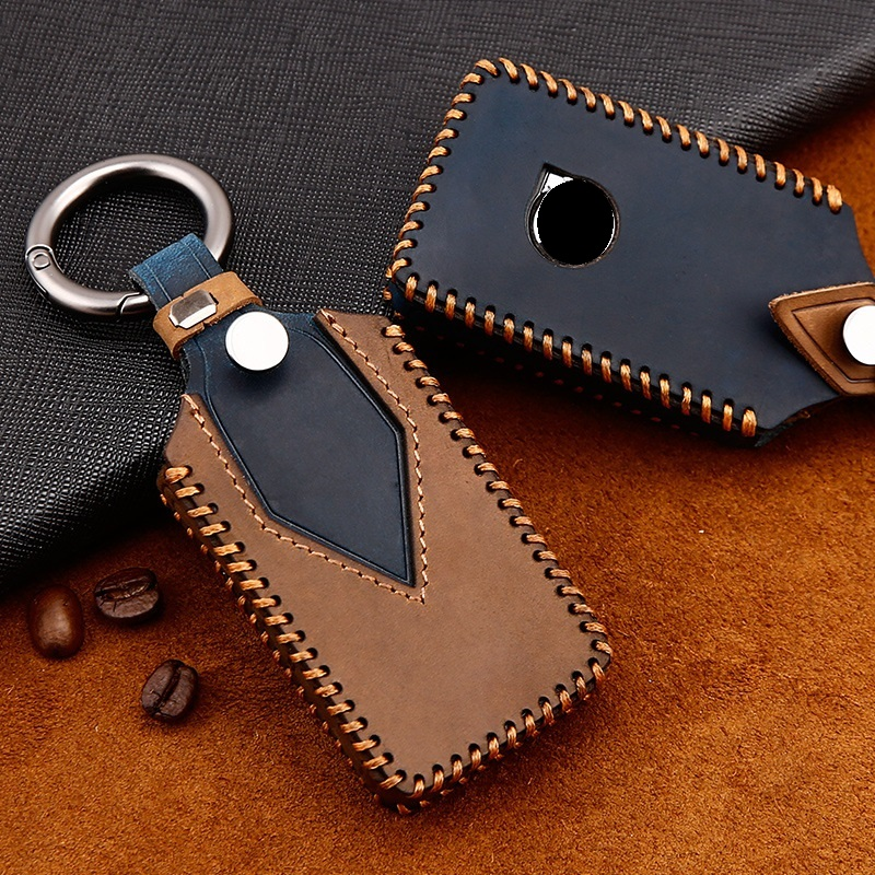 Genuine Leather Handmade Car Key Cover key Case For  VOLVO S90 V90 XC90 XC60 XC40 Key Case Cover|Key Case for Car|Automobiles & Motorcycles - title=
