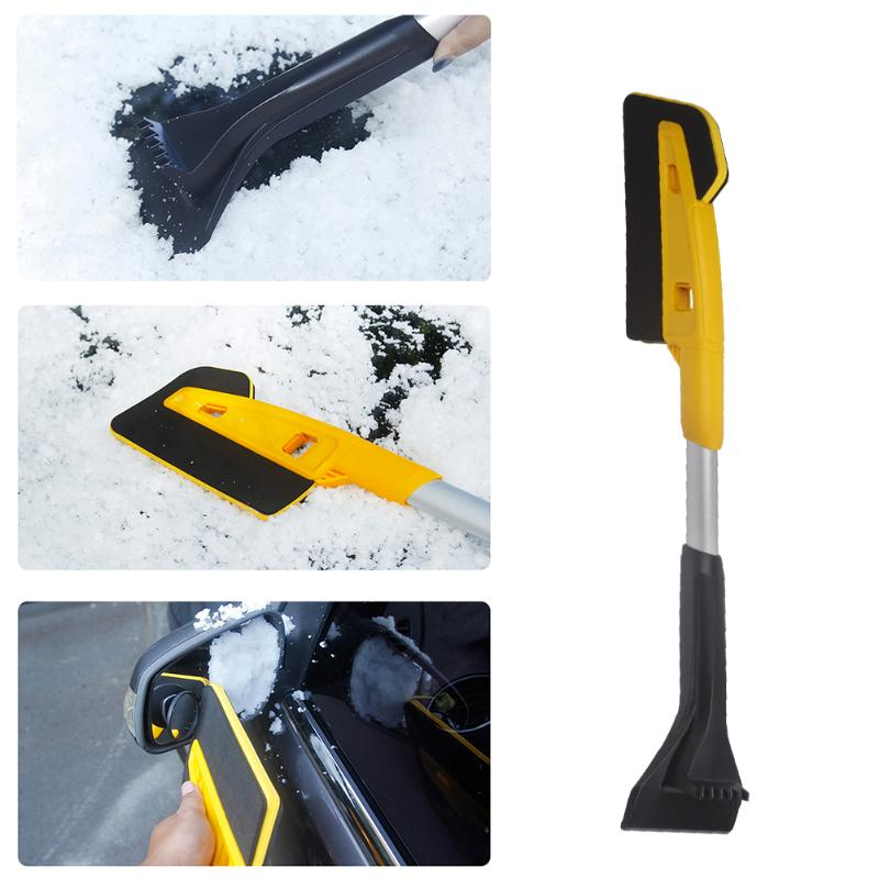 Detachable 2 in 1 Car Windshield Snow Brush Convenient Practical User-friendly Design Ice Scraper Breaker Winter Auto Tool image