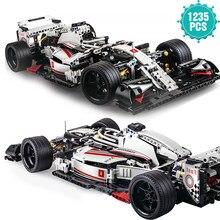 1235 pçs famosos esportes de corrida blocos de construção do carro f1 super velocidade veículo tijolos brinquedos educativos presente aniversário para o namorado