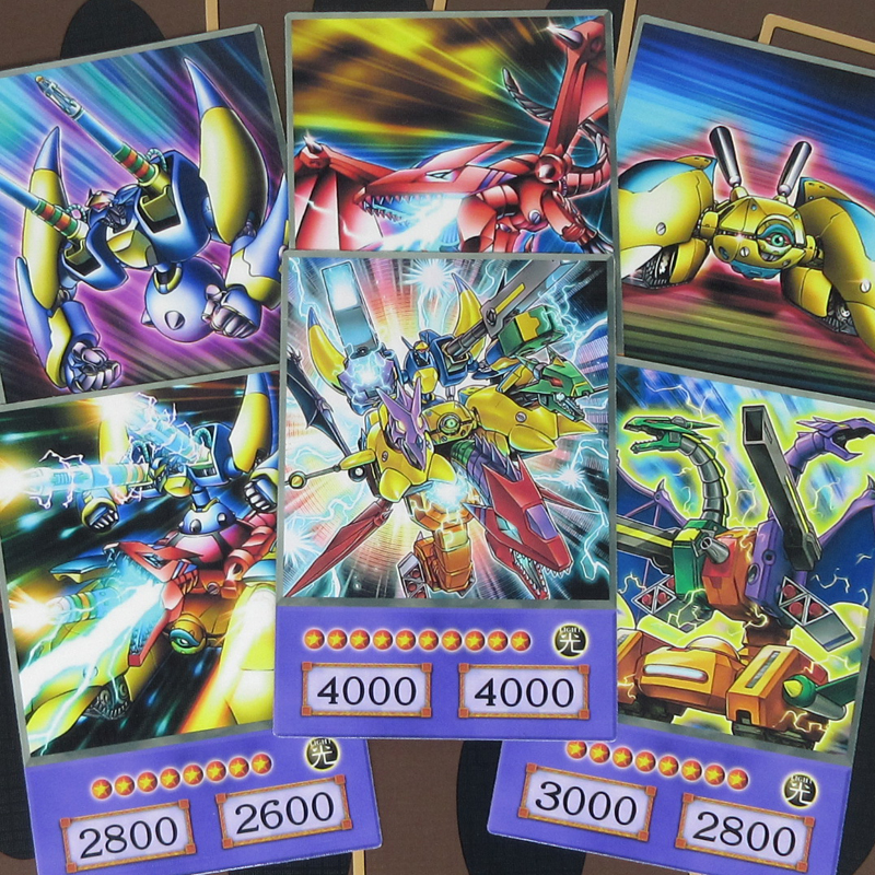 16pcs/set Yu-Gi-Oh! Machine Union Anime Style Cards VWXYZ AtoZ Seto Kaiba Fusion Dragon Cannon Yugioh Half-frosted Orica