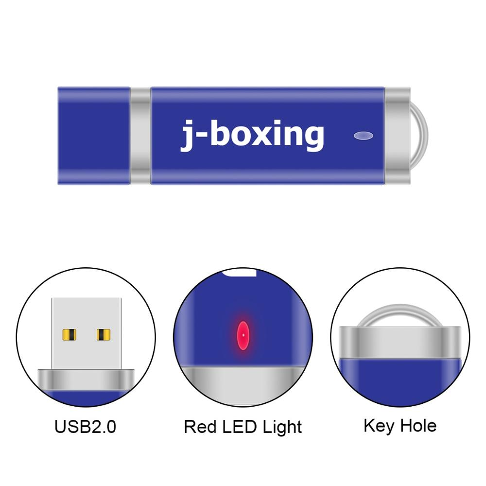 J-boxing 64GB 2.0 Metal Keychain USB Flash Drives Lighter Shape 128GB Pen Drive Flash Memory Stick 32GB 16GB U Disk Storage Blue