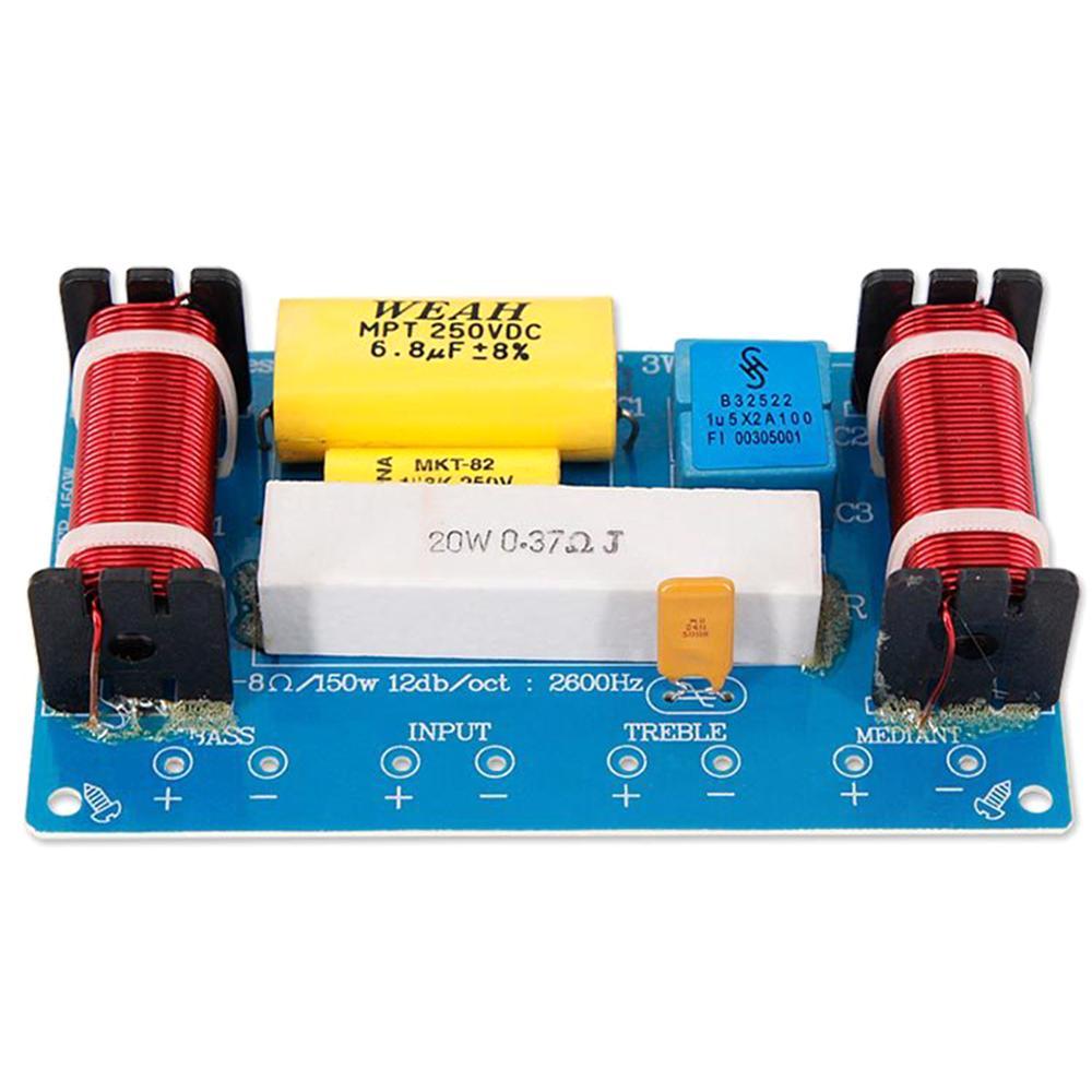 WEAH-338 3 Way 120W Speaker Audio Frequency Divider Loudspeaker Crossover Filter M5TD