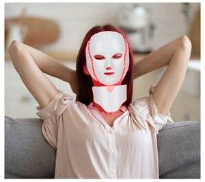 Image 5 - 7 colori Led maschera ringiovanimento della pelle fototerapia terapia della luce Anti invecchiamento maschera coreana bellezza macchina sbiancante collo strumento per la cura della pelle
