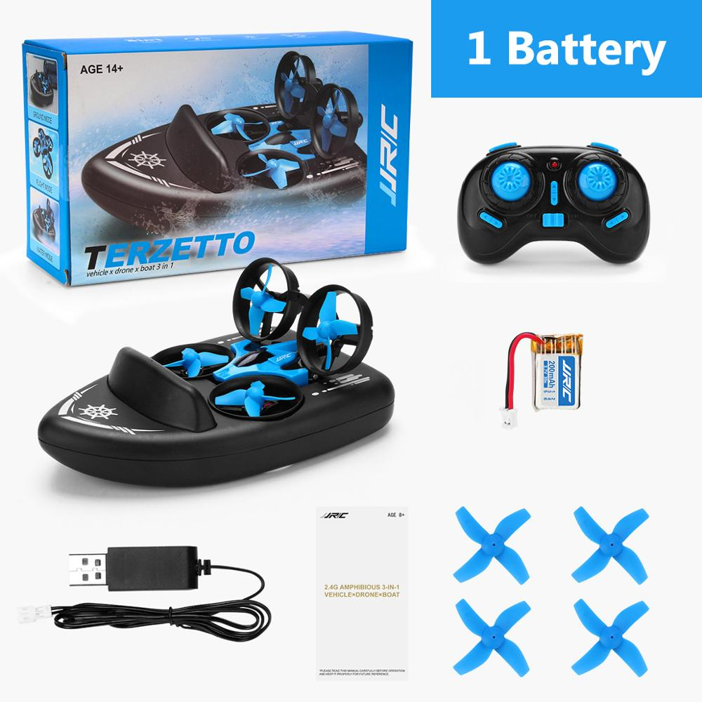 JJRC H36F RC Mini Drone Altitude Hold Headless Mode 3 in 1 Sea land Air flight 2.4G 6-Axis Quadcopter Boat RC Helicopter For Kid