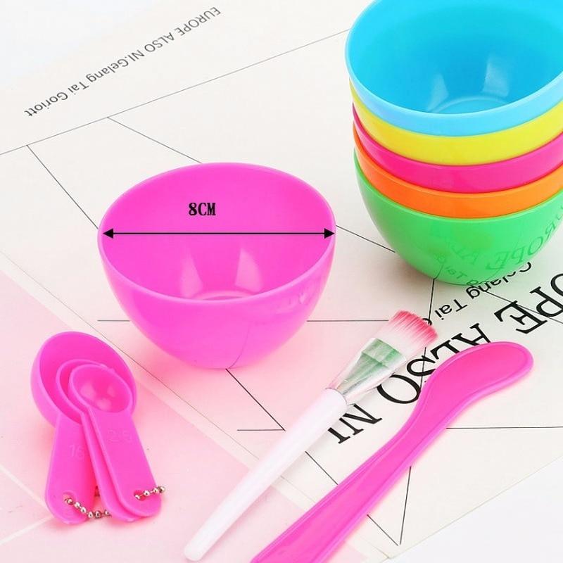 1 Set 4 In 1 DIY Facial Mask Mixing Bowl Brush Spoon Stick Brush Face Care Set Women Facial Beauty Professional Kits Tools