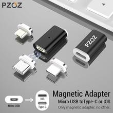 PZOZ Магнитный Кабель-адаптер Micro usb адаптер для быстрой зарядки телефона Microusb type-C магнитное зарядное устройство usb c для iphone xiaomi type C