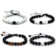 BOFEE Diffuser Bracelet Bead Yoga Natural Lava Stone Perfume Aromatherapy Hand Chain Adjustable Buddha Jewelry Men Women Gift