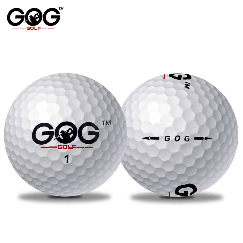 Brand GOG 10 Pcs Golf Game Ball Two Layers High-Grade Golf Balls Long Distance Wholesale Price