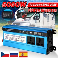 Inverter 12V 220V 5000W 4000W 3000W Inverter Voltage Converter Transformer 4 USB Solar Power Inverter Charger for Car Home