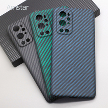 Amstar Real Carbon Fiber Protective Cover Case for OnePlus 9 Pro Ultra Thin Anti Fall Pure Carbon Fiber Phone Case Hard Cover