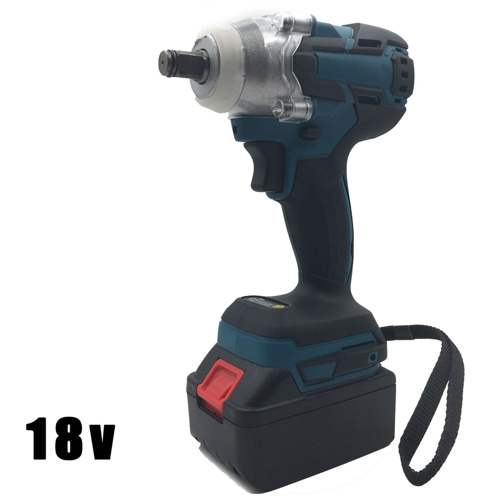 18V Cordless Electric Wrench Brushless Impact Torque Driver Rechargeable Battery LED Lights Display Working Power Tools
