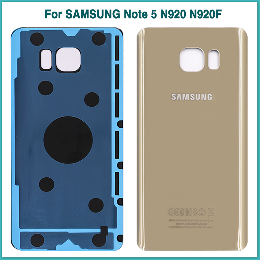 SAMSUNG Rear-Housing-Case Sticker Battery Back-Cover Glass N920F Note5 New for Note-5/N920/N920f/..