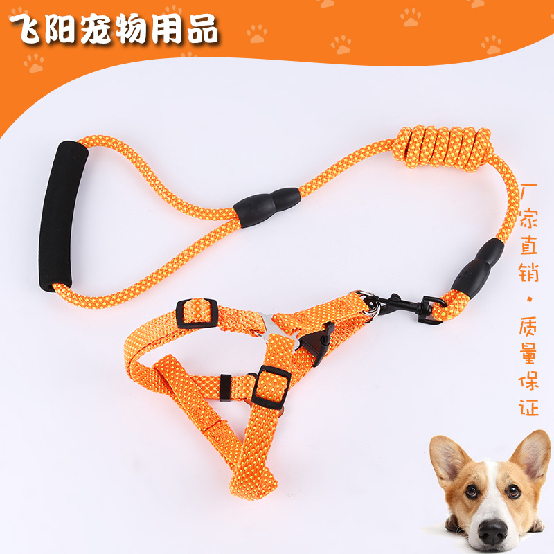 Pitting Chest And Back Haulage Rope Package Multi-Specification Nylon Traction Belt With Chest And Back Set Of Dog Chain