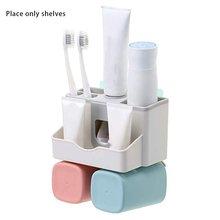 Настенная подставка для зубных щеток установленная Зубная паста держатель для ванной органайзер для 2 держатель чашки подставка профессиональная