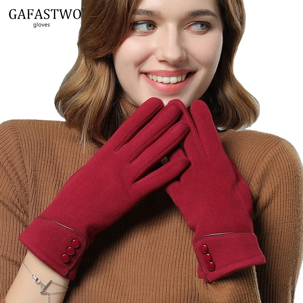 Winter New Warm Suede Gloves Fashion Women Plus Velvet Cold Sports Riding Touch Screen Gloves