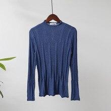 купить Semi Turtleneck Sweater Women's Knit Thin Sweater Casual Bottom Shirt Autumn Winter Sweaters Female Tops Sueter Mujer Invierno онлайн