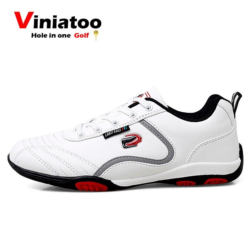 Novo à Prova Sapatos de Golfe dos Homens de Pouco Tênis de Golfe Preto ao ar Sapatos de Caminhada Dwaterproof Água Peso Anti Deslizamento Branco Livre