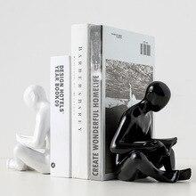 Nordic creative minimalist book reader book by art ceramic book holder study office desktop home decoration book stand