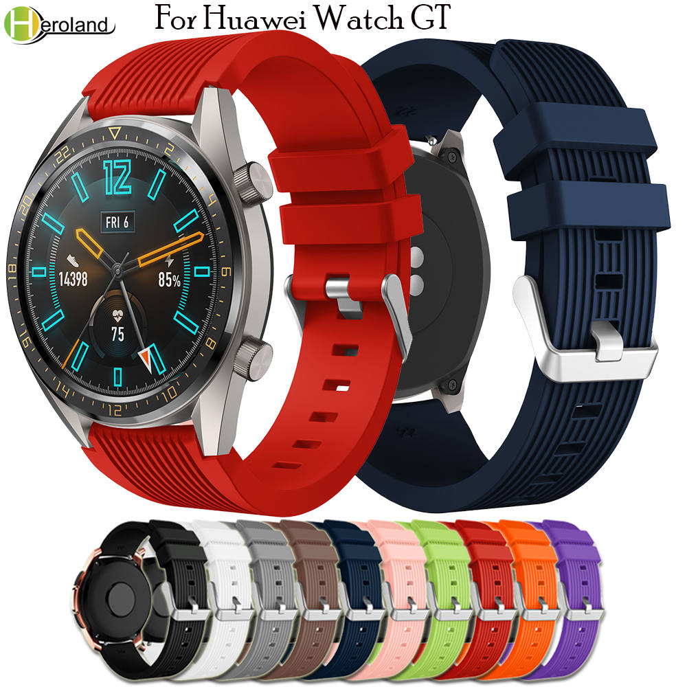 Straps For Huawei Watch GT 46mm/ Huami Amazfit GTR 47mm Sports WristBand 22mmm Silicone Smart Watches Band For Samsung Gear S3