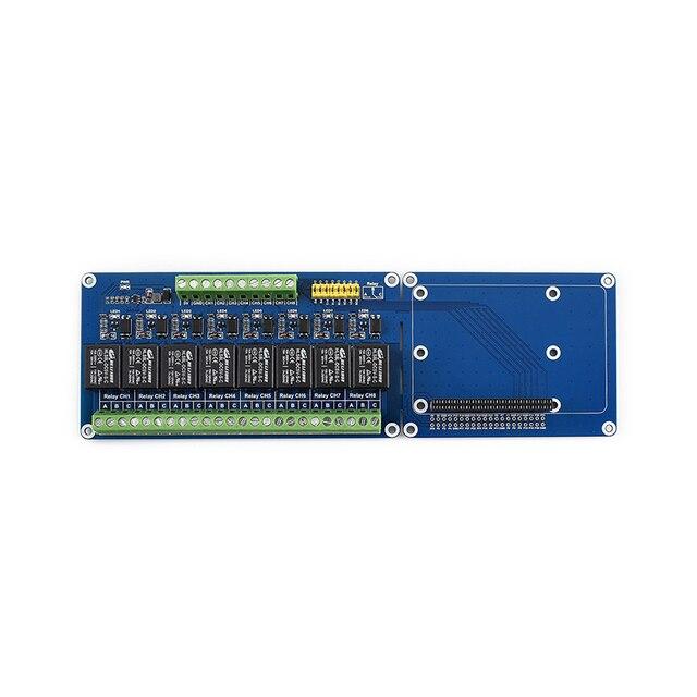 Module de carte de relais à 8 canaux pour carte dextension Raspberry Pi 4/3B +/3B carte de relais RPi à bord LED (B)