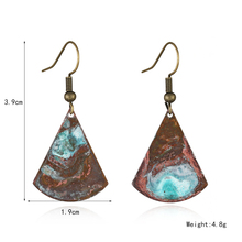 New design vintage patina copper earring