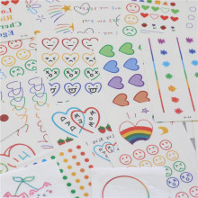 CHENG PIN 1 Bag 30 Pcs Kawaii DIY Stationery Stickers Cute Children Office Beautiful Tattoo Sticker