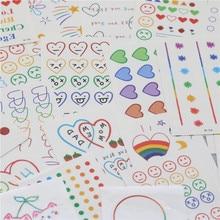 CHENG PIN 1 Bag 30 Pcs Kawaii DIY Stationery Stickers Cute Children Office Beautiful Tattoo Sticker