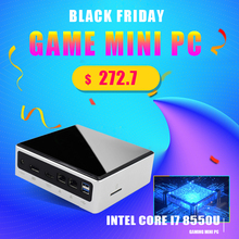 Topton Intelligente Piccolo Caso Mini Cassa del PC 8th Gen Intel i7 8550U 2xSODIMM DDR4 Max 32GB di RAM M.2 NGFF/NVME SSD Tipo C DP HDMI Pocket PC