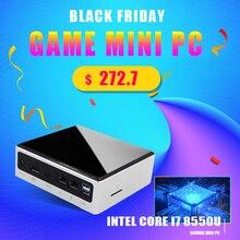 Topton 스마트 초소형 케이스 미니 PC 8 세대 인텔 i7 8550U 2xSODIMM DDR4 최대 32GB RAM M.2 NGFF/NVME SSD 유형 C DP HDMI 포켓 PC