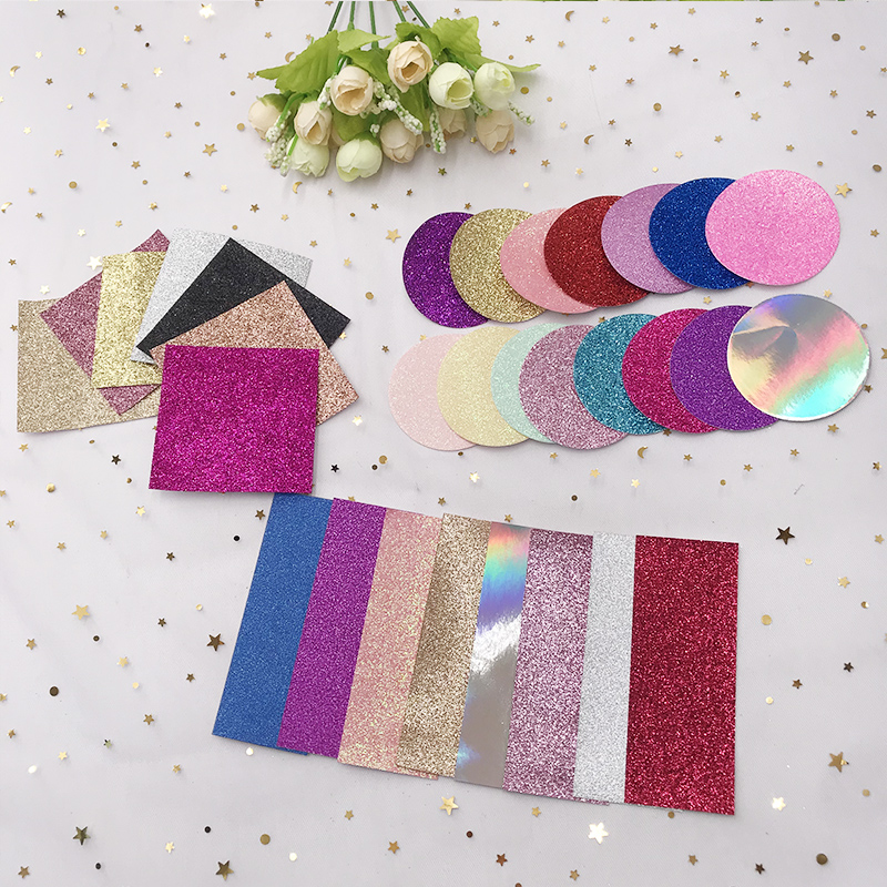 100/200 Pcs Eyelash Glitter Background Paper For The Inside Of The Lashes Packaging Box