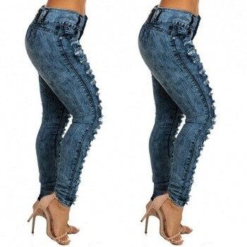 woman mom high waist jeans mujer spodnie damskie jean vaqueros mujer denim streetwear plus size calca jeans feminina pant 3XL Z4 2