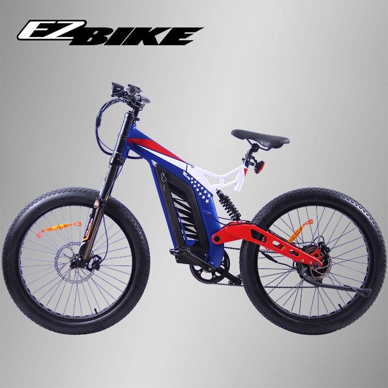 EZBIKE vélo électrique 27 vitesse 48V 750W E vélo 26*4.0 vélos de montagne gros vélo route vélo électrique en alliage d'aluminium e-bike pour hommes