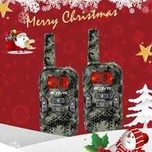 Retevis rt33 mini walkie talkie 2 pçs crianças rádio bidirecional 0.5w pmr rádio pmr446 frs vox lanterna presente de natal/presente de ano novo