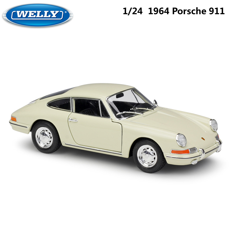 WELLY Diecast Car 1:24 Scale 1964 Porsche 911 High Simulation Model Car Toy Metal Alloy Toy Car For Children Gifts Collection