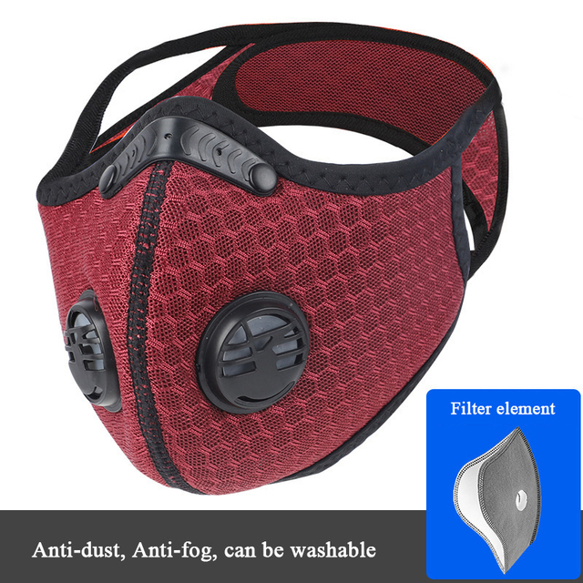 Activated Carbon Mask Dust-proof Anti-fog Cycling Face Mask PM 2.5 Anti-Pollution Outdoor Sport Training Running Masks 3