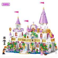 Todas as meninas série compatível gelo princesa castelo blocos de construção amigos para meninas tijolos figuras brinquedos para crianças presentes